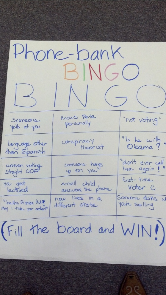 Phone Bank Bingo