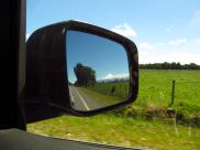 Volcan Osorno, from the rearview mirror